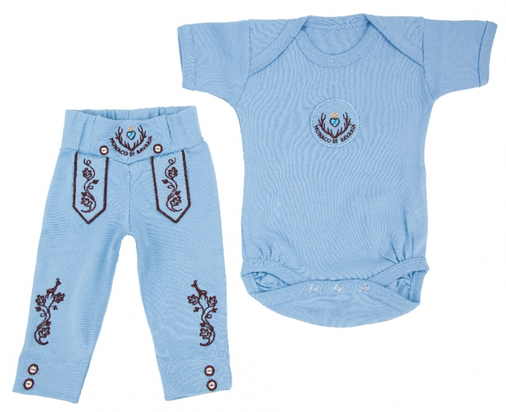 Bavarian Baby Set 2-piece, blue 3-6 months, 62-68 cm