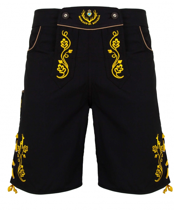 Chiemgauer-Stil: Bavarian trunks and leisure pants, black/yellow L