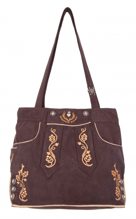 Ladies Trachten Bag brown/orange