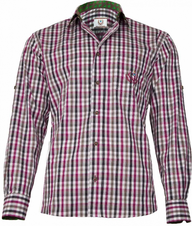 Trachten Shirt purple