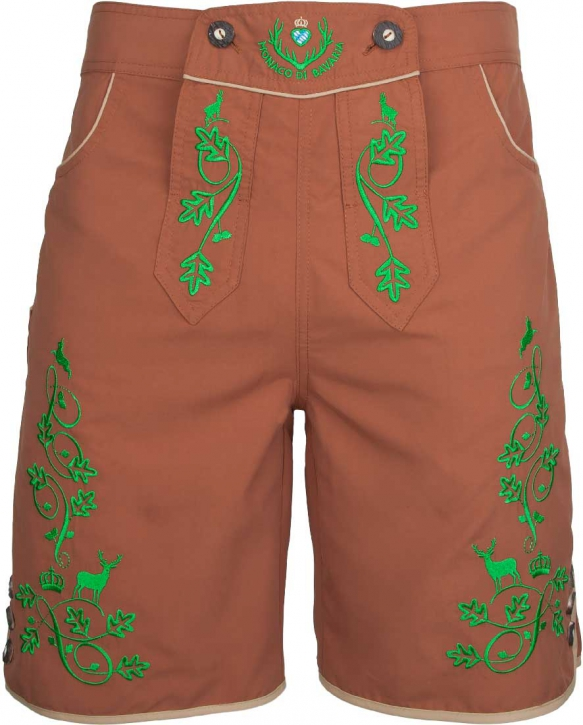The Traditional-Style: Bavarian trunks and leisure pants, brown