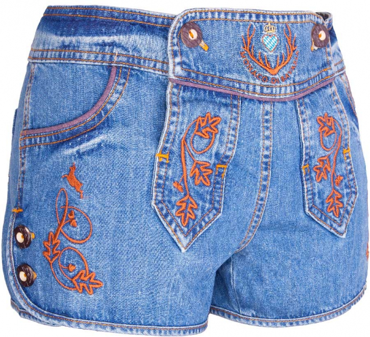 Women Bavarian Denim Shorts
