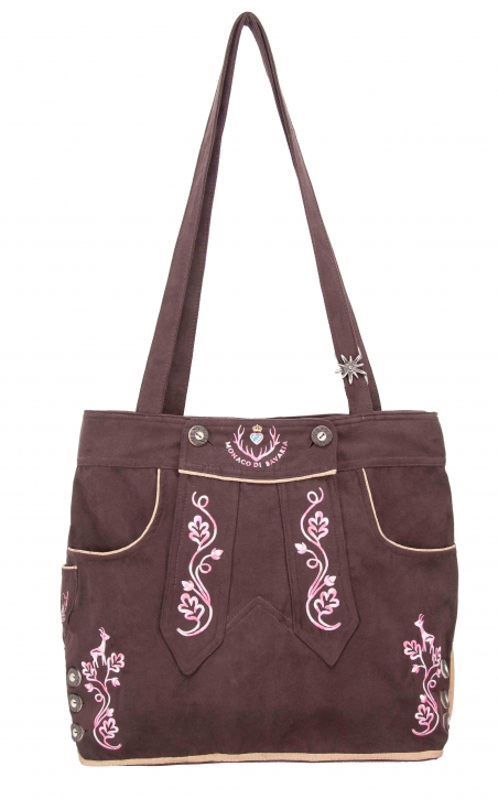 Ladies Trachten Bag brown/pink