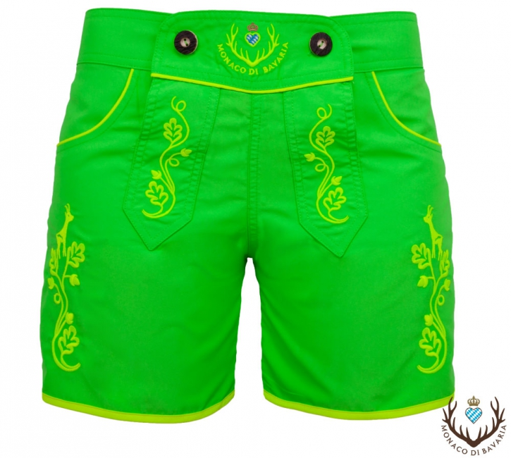Ladies Bavarian Leisure Shorts, neongreen