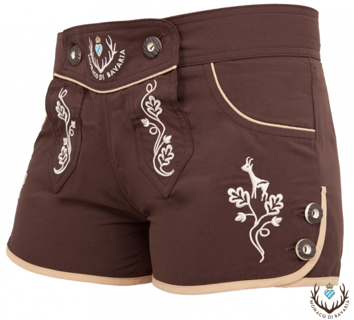 Ladies hotpants,brown