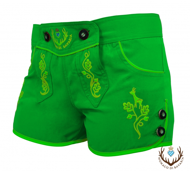 Ladies hotpants, neongreen XL