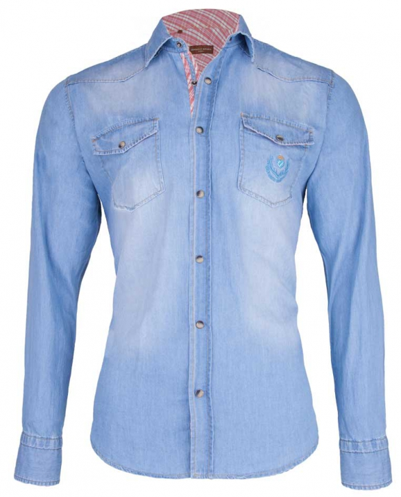 Denim shirt Monaco di Bavaria lightblue