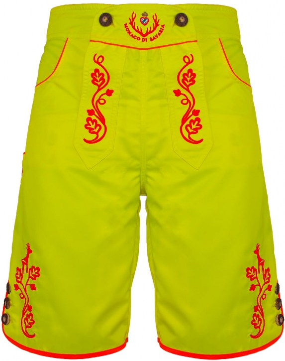 BRANDNEW: Bavarian trunks and leisure pants, neonyellow