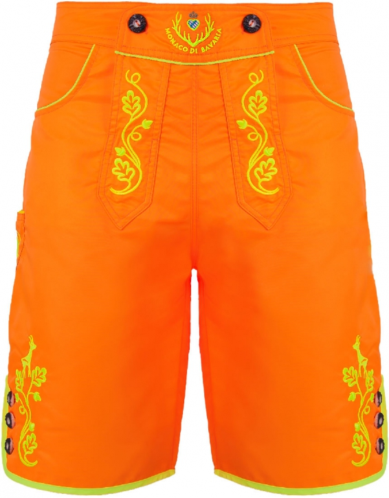 BRANDNEW: Bavarian trunks and leisure pants, neonorange