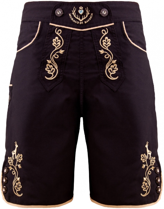 Bavarian trunks and leisure pants, black/gold L