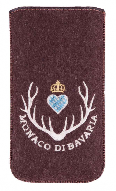 Smartphone Case brown felt with Monaco di Bavaria logo