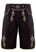 Bavarian trunks and leisure pants, black/gold XL