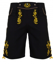 Chiemgauer: Bavarian trunks and leisure pants, black/yellow