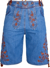 Men Bavarian Denim Shorts with suspenders