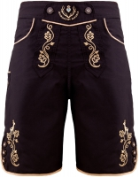 Bavarian trunks and leisure pants, black/gold XS