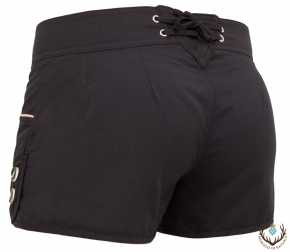 Ladies hotpants, schwarz/gruen S