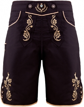 Bavarian trunks and leisure pants, black/gold S